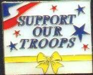 12 Pins - SUPPORT OUR TROOPS , yellow ribbon pin #4900
