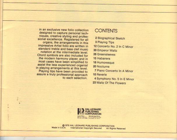 Glenn Derringer, All Organ Edition, Volume 2,  1978