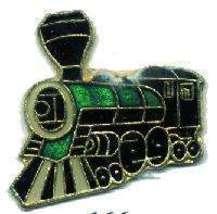 12 Pins - TRAIN , hat tac lapel railroad pin #166 - $9.00