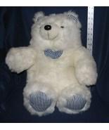 "Huggable White Plush Polar Bear 17"" Tall - $14.99"