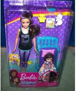 Barbie Skipper BABYSITTERS INC Doll and Toddler & Toddler Bed Playset New - $30.57