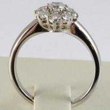 White Gold Ring 750 18K, Flower Rosette with Diamonds Carat Total 0.77 image 3