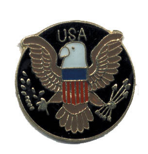12 Pins - USA w/ EAGLE , us hat lapel pin #4811