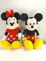 Minnie Mouse & Mickey Mouse Plush Stuffed Animal 90 Years Kohls Cares NE... - $21.77