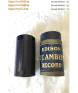 ON SALE Vintage Edison Blue Amberol 4 minute Cylinder Record 1776 God Be... - $72.25