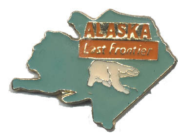 12 State Pins - ALASKA , hat lapel pin #148