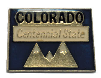 12 State Pins - COLORADO , hat lapel pin #4587