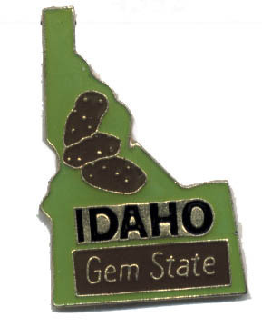 12 State Pins - IDAHO , hat lapel pin #4598