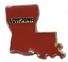 12 State Pins - LOUISIANA , hat lapel pin #4601 - $9.00