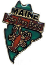 12 State Pins - MAINE , hat lapel pin #4585 - $9.00