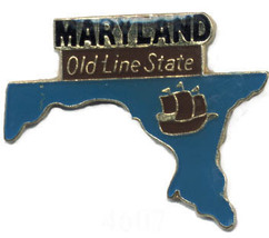 12 State Pins - MARYLAND , states hat lapel pin #4607 - $9.00