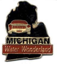 12 State Pins - MICHIGAN , states hat lapel pin #151 - $9.00