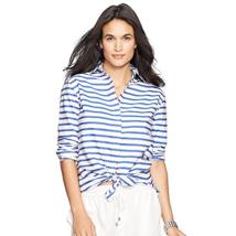 Ralph Lauren Striped Cotton Shirt Size M MSRP: $98.00 - $49.49