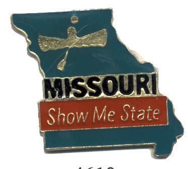 12 State Pins - MISSOURI , states hat lapel pin #4610