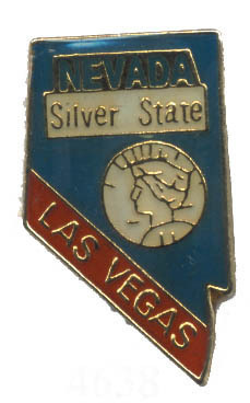 12 State Pins - NEVADA , states hat lapel pin #4638