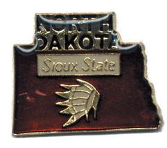 12 State Pins - NORTH DAKOTA , hat lapel pin #4608 - $9.00
