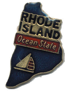 12 State Pins - RHODE ISLAND , hat lapel pin #4596
