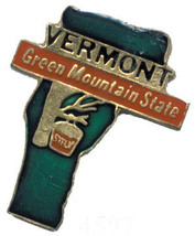 12 State Pins - VERMONT green mountain lapel pin #4597 - $9.00