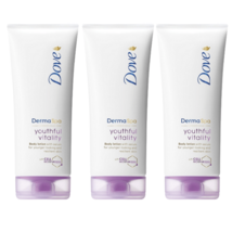 3 Dove Derma Spa Youthful Vitality Body Lotion 200ml   - $21.90