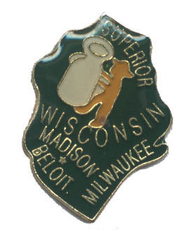 12 State Pins - WISCONSIN , states hat lapel pin #491