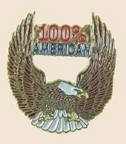 12 Pins - 100% AMERICAN w/ EAGLE , patriotic pin sp323 Bonanza