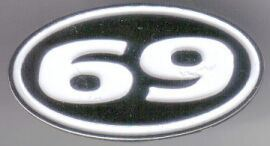 12 Pins - 69 , sixty nine hat tac lapel pin sp437 Bonanza