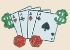 12 Pins - ACES PLAYING CARDS $ & DICE , lapel pin sp077 Bonanza