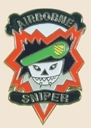 12 Pins - AIRBORNE SNIPER army lapel hat pin sp090