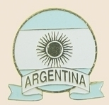 12 Pins - ARGENTINA EMBLEM , flag hat lapel pin sp057 Bonanza