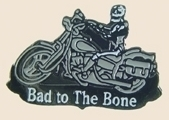 12 Pins - BAD TO THE BONE , motorcycle skull pin sp324
