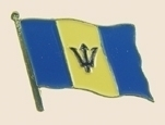 12 Pins - BARBADOS , flag hat lapel badge pin sp192 Bonanza
