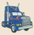 12 Pins - BLUE SEMI TRUCK , trucker trucking pin sp134 Bonanza