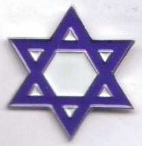 12 Pins - BLUE STAR OF DAVID , hat lapel pin sp491 - $18.00