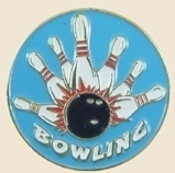 12 Pins - BOWLING , bowler ball lapel hat pin sp147 Bonanza