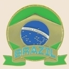 12 Pins - BRAZIL EMBLEM , flag hat lapel pin sp053