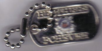 12 Pins - BROTHERS FOREVER COAST GUARD dog tag pin p483