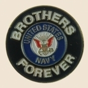 12 Pins - BROTHERS FOREVER NAVY united states pin sp454 Bonanza