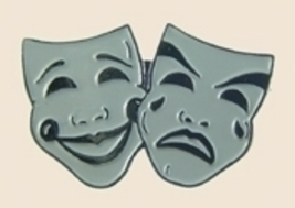12 Pins - COMEDY TRAGEDY , school play lapel pin sp305 - $18.00