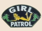 12 Pins - GIRL PATROL , sexy girl hat lapel pin sp141 Bonanza