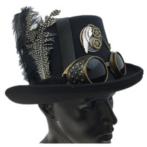 Steampunk Top Hat Mad Scientist Halloween Costume Cosplay Party With Fea... - €29,72 EUR