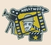 Primary image for 12 Pins - HOLLYWOOD w/ CAMERA , film movie pin sp171