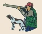 12 Pins - HUNTER WITH DOG AND GUN hunting pin sp306