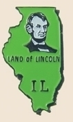 12 Pins - ILLINOIS , state hat tac lapel pin sp337