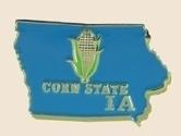 12 Pins - IOWA , state hat tac lapel pin sp339