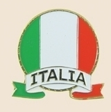 12 Pins - ITALY EMBLEM , italia italian flag pin sp048