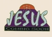 12 Pins - JESUS COMING SOON is religous lapel pin sp011