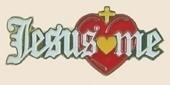 12 Pins - JESUS LOVES ME w/ HEART CROSS lapel pin sp001