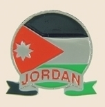 12 Pins - JORDAN EMBLEM , flag hat lapel pin sp067