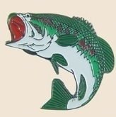 12 Pins - LARGE MOUTH BASS FISH , hat lapel pin sp174