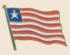 12 Pins - LIBERIA , flag hat lapel badge pin sp235